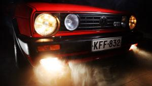 Video production for Car dealership Autoliike Kymppi Plus Oy about the classic car Volkswagen Golf GTI Mk2