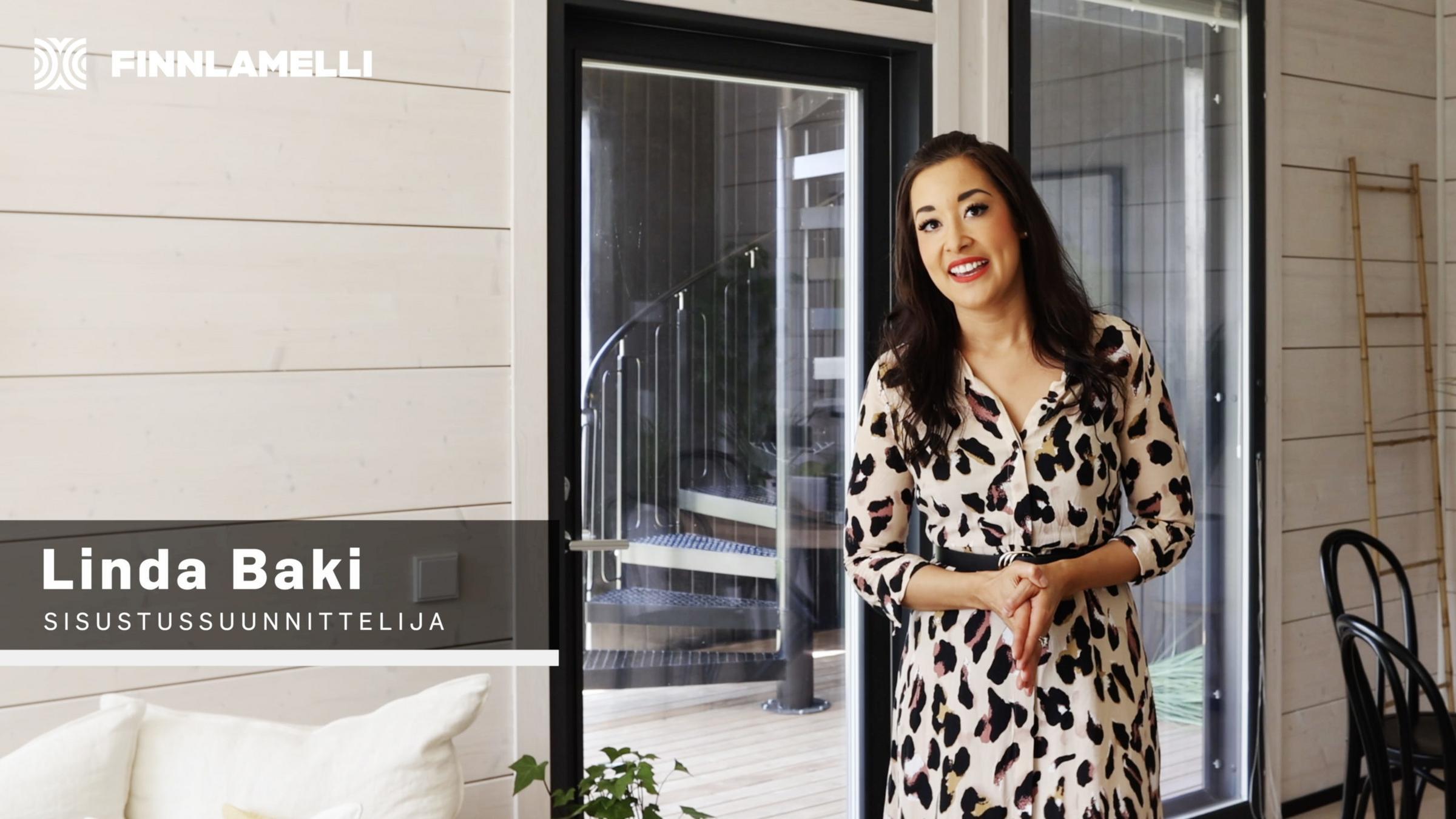 Finnlamellille tuotettu video Asuntomessukohteen sisustusratkaisuista